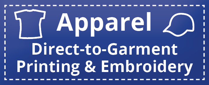 Apparel - DTG & Embroidery BLUE